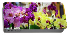 Portable Battery Charger featuring the photograph Decorative Orchids Still Life B82418 by Mas Art Studio