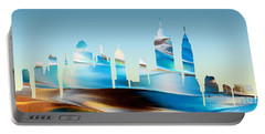 Decorative Skyline Abstract New York P1015b Portable Battery Charger