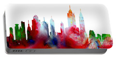 Decorative Skyline Abstract New York P1015c Portable Battery Charger