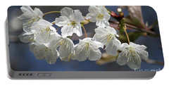 Deep Blue  Cherry Blossom Portable Battery Charger