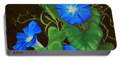 Deep Blue Morning Glory Portable Battery Charger
