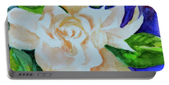 Portable Battery Charger featuring the painting Deep Gardenia by Beverley Harper Tinsley