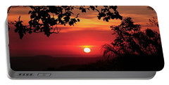 Portable Battery Charger featuring the photograph Deep Orange Sunset by Ellen Barron O'Reilly