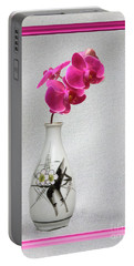 Portable Battery Charger featuring the photograph Deep Pink  Orchids by Linda Phelps