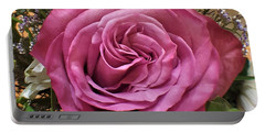 Deep Pink Rose Portable Battery Charger