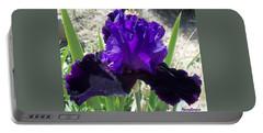 Deep Purple Iris Agape Gardens Portable Battery Charger
