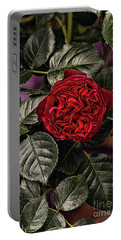 Deep Red Rose Portable Battery Charger