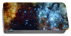 Deep Space Fire And Ice 2 Portable Battery Charger by Jennifer Rondinelli Reilly - Fine Art Photography