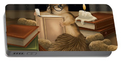 Portable Battery Charger featuring the painting Deep Study by Veronica Minozzi