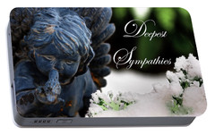 Portable Battery Charger featuring the photograph Deepest Sympathies Angel by Shelley Neff
