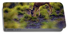 Deer At Crater Lake, Oregon Portable Battery Charger