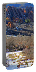 Deer At Roxborough Portable Battery Charger