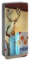 Deer At Salt Lick Portable Battery Charger by Joe Jake Pratt