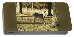 Deer At Valley Forge Portable Battery Charger