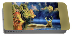 Deer In Autumn Portable Battery Charger