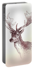 Deer In Ink Portable Battery Charger