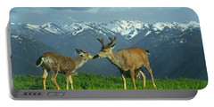 Ma-181-deer In Love  Portable Battery Charger