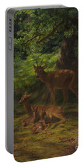 Deer In Repose Portable Battery Charger