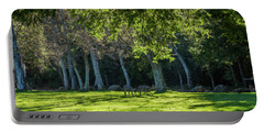 Deer In The Afternoon Sun Portable Battery Charger