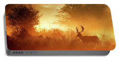 Deer In The Mist Portable Battery Charger