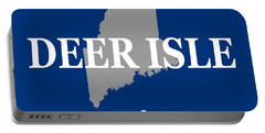 Portable Battery Charger featuring the photograph Deer Isle Maine State City And Town Pride  by Keith Webber Jr