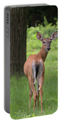 Deer Looking Back Portable Battery Charger