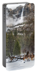 Deer Of Winter Portable Battery Charger