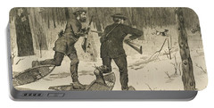 Deer-stalking In The Adirondacks In Winter Portable Battery Charger