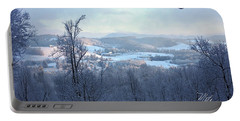 Deer Valley Winter View Portable Battery Charger by Meta Gatschenberger