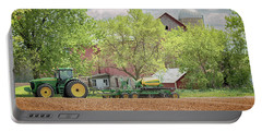 Portable Battery Charger featuring the photograph Deere On The Farm by Susan Rissi Tregoning