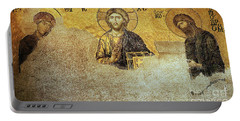 Deesis Mosaic Hagia Sophia-christ Pantocrator-judgement Day Portable Battery Charger