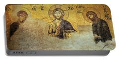 Deesis Mosaic Hagia Sophia-christ Pantocrator-the Last Judgement Portable Battery Charger