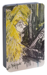 Def Leppard Love Bites Portable Battery Charger by Geraldine Myszenski