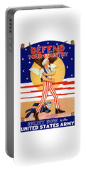 Defend Your Country Enlist Now  Portable Battery Charger