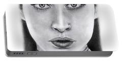 Lauren Jauregui Drawing By Sofia Furniel  Portable Battery Charger