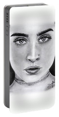 Lauren Jauregui Drawing By Sofia Furniel  Portable Battery Charger