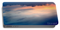 Delaware River Abstract Reflections Foggy Sunrise Nature Art Portable Battery Charger