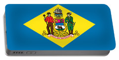 Delaware State Flag Portable Battery Charger by Robert Banach