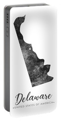 Delaware State Map Art - Grunge Silhouette Portable Battery Charger