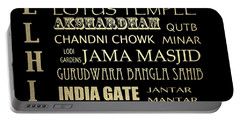 Delhi Famous Landmarks Portable Battery Charger