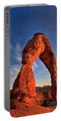 Delicate Arch At Sunset Portable Battery Charger