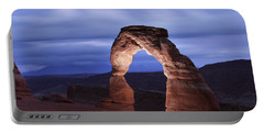 Delicate Arch At Twilight Portable Battery Charger