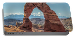 Delicate Arch In Early Morning Portable Battery Charger