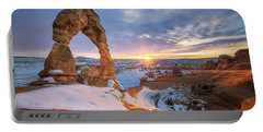 Delicate Arch Winter Portable Battery Charger