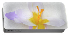 Delicate Art Of Crocus Portable Battery Charger by Terence Davis