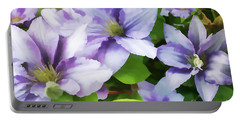 Delicate Climbing Clematis  Portable Battery Charger by Judy Palkimas