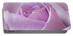 Delicate Lavender Rose Macro Portable Battery Charger