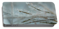 Delicate Morning Frost  Portable Battery Charger