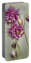 Delicate Pink Columbine Portable Battery Charger