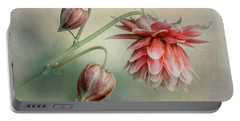Delicate Red Columbine Portable Battery Charger